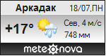 Погода от Метеоновы по г. Аркадак
