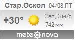 Погода от Метеоновы по г. Старый Оскол