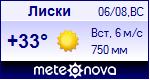 Погода в Лисках - установите себе на сайт информер с прогнозом погоды