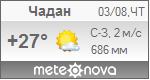 Погода от Метеоновы по г. Чадан