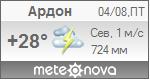 Погода от Метеоновы по г. Ардон