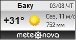 Погода от Метеоновы по г. Баку