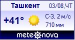 Погода в Ташкенте - установите себе на сайт информер с прогнозом погоды
