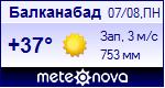 Погода в Балканабаде - установите себе на сайт информер с прогнозом погоды