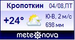 Погода в Кропоткине - установите себе на сайт информер с прогнозом погоды