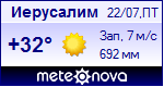 Погода в Иерусалиме - установите себе на сайт информер с прогнозом погоды