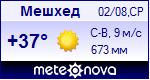 Погода в Мешхеде - установите себе на сайт информер с прогнозом погоды