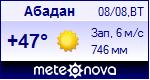 Погода в Абадане - установите себе на сайт информер с прогнозом погоды