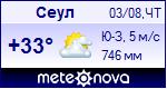 Погода в Сеуле - установите себе на сайт информер с прогнозом погоды