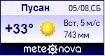 Погода в городе Пусан - установите себе на сайт информер с прогнозом погоды