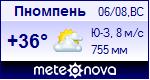 Погода в Пномпене - установите себе на сайт информер с прогнозом погоды