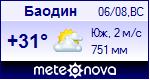 Погода в Баодине - установите себе на сайт информер с прогнозом погоды