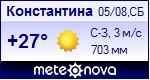 Погода в Константине - установите себе на сайт информер с прогнозом погоды