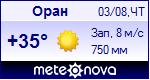 Погода в Оране - установите себе на сайт информер с прогнозом погоды