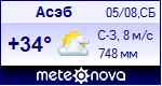 Погода в городе Асэб - установите себе на сайт информер с прогнозом погоды