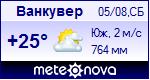 Погода в Ванкувере - установите себе на сайт информер с прогнозом погоды