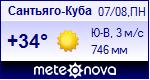 Погода в Сантьяго-Де-Куба - установите себе на сайт информер с прогнозом погоды