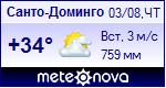 Погода в Санто-Доминго - установите себе на сайт информер с прогнозом погоды