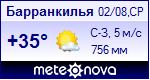 Погода в Барранкилье - установите себе на сайт информер с прогнозом погоды