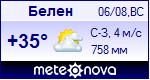 Погода в Белене - установите себе на сайт информер с прогнозом погоды