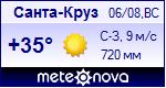 Погода в Санта-Крузе - установите себе на сайт информер с прогнозом погоды