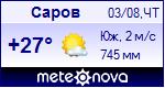 Погода в Сарове - установите себе на сайт информер с прогнозом погоды