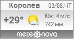 Погода от Метеоновы по г. Королёв