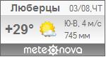 Погода от Метеоновы по г. Люберцы