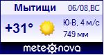 Погода в Мытищах - установите себе на сайт информер с прогнозом погоды