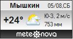 Погода от Метеоновы по г. Мышкин