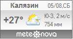 Погода от Метеоновы по г. Калязин