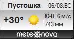 Погода от Метеоновы по г. Пустошка