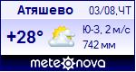 Погода в Атяшево - установите себе на сайт информер с прогнозом погоды