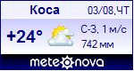Погода в Косе - установите себе на сайт информер с прогнозом погоды