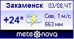 Погода в Закаменске, Республика Бурятия на неделю