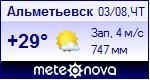 Погода в Альметьевске - установите себе на сайт информер с прогнозом погоды