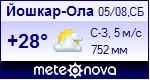 Погода в Йошкар-Ола - установите себе на сайт информер с прогнозом погоды