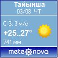 Погода от Метеоновы по г. Тайынша
