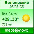 Погода от Метеоновы по г. Белоярский