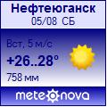 Погода от Метеоновы по г. Нефтеюганск