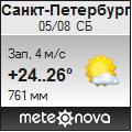 Погода от Метеоновы по г. Санкт-Петербург