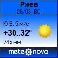 Погода отМетеоновы пог. Ржев