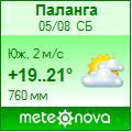 Погода от Метеоновы по г. Паланга