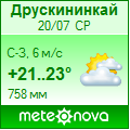 Погода от Метеоновы по г. Друскининкай