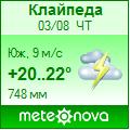 Погода от Метеоновы по г. Клайпеда
