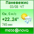 Погода от Метеоновы по г. Паневежис
