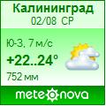 Погода от Метеоновы по г. Калининград