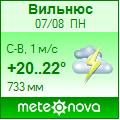 Погода от Метеоновы по г. Вильнюс