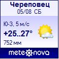 Погода от Метеоновы по г. Череповец