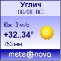 Погода от Метеоновы по г. Углич